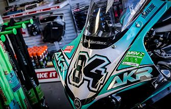 track and race prep motorbikes closeup windshield